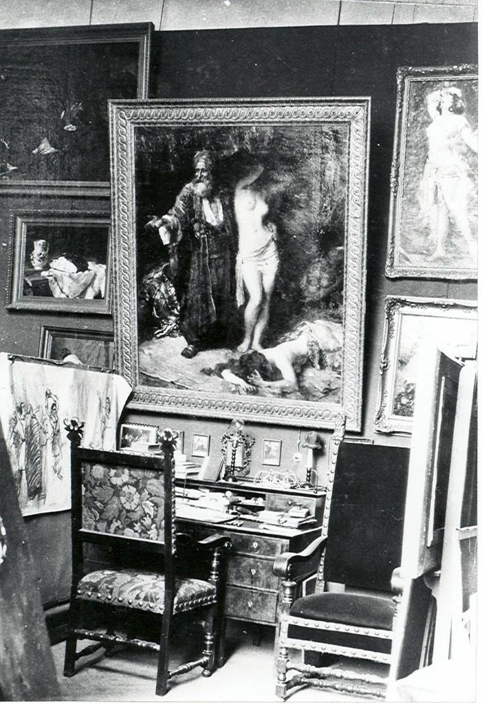 A festőműterem égésénél az értékes képek a szárazoltásnak köszönhetően megmenekültek a pusztulástól