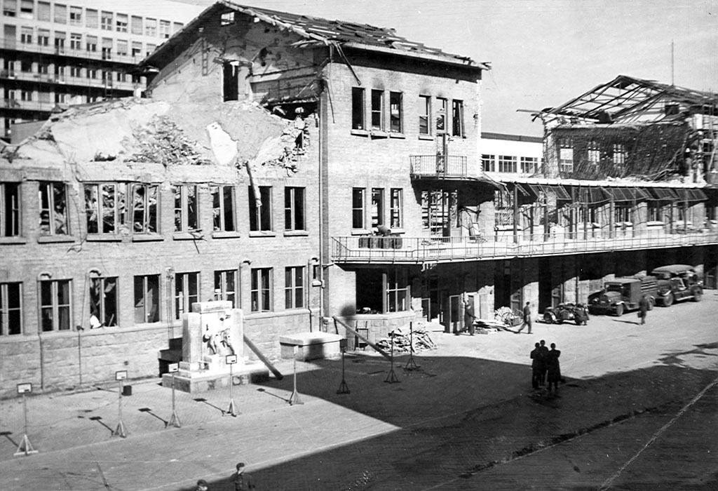 A Kun utcai laktanya az újjáépítés megkezdésekor