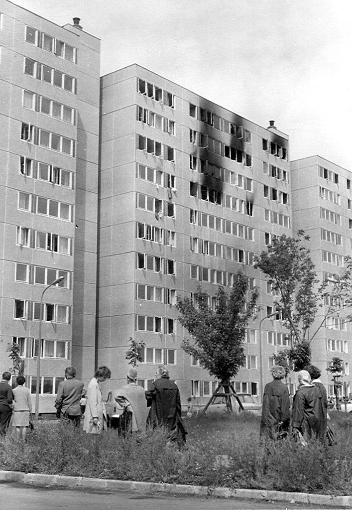 A Csertő utcai épület a tűz után