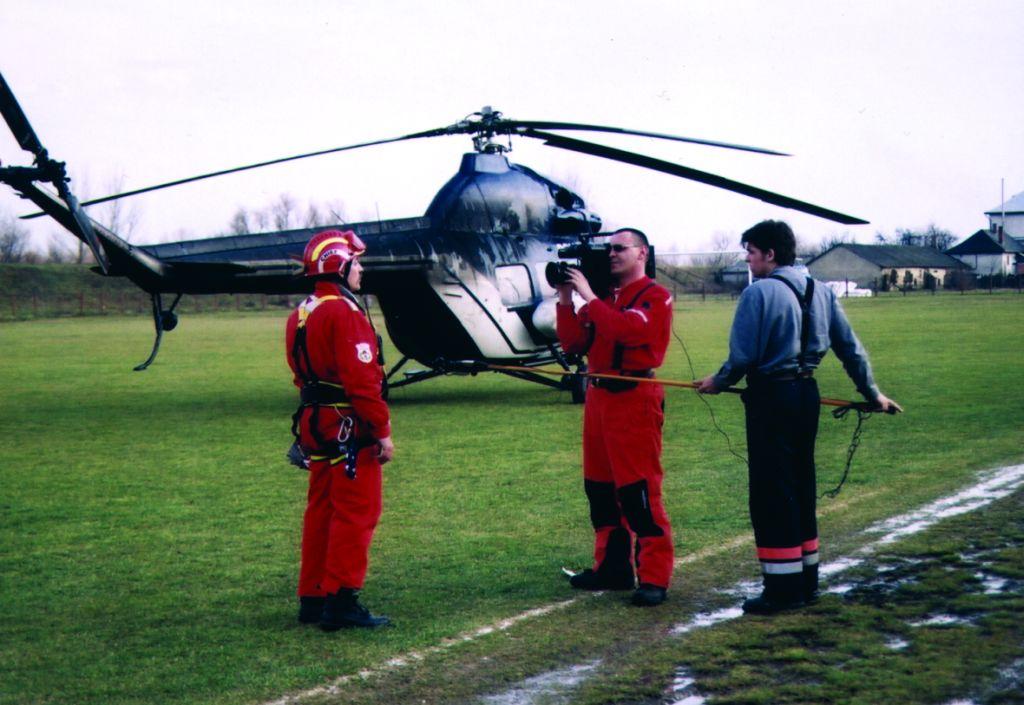 Helikopteres bemutató