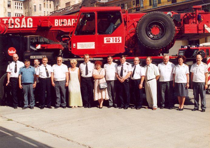 Waldemar Pawlak és a lengyel tűzoltó küldöttség
