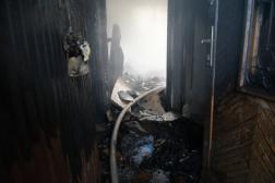 Az égett lakás állapota